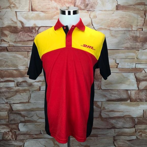 DHL Men\u2019s S Employee Uniform Courier Work Shirt
